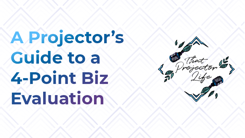 9. A Projector's Guide to a 4-Point Biz Evaluation
